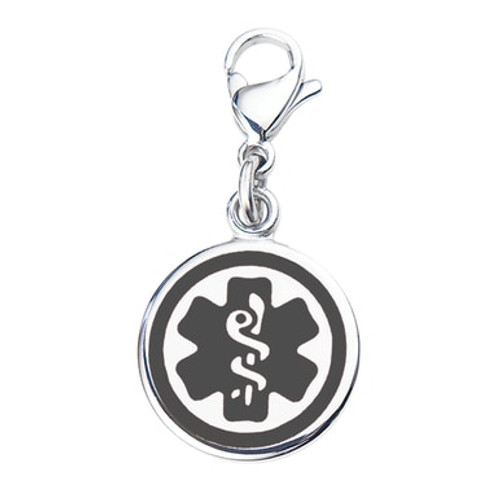 """Mix N Match 3/8"""" (10mm) 316L Double-Sided  Medical Alert Charm - Color"""