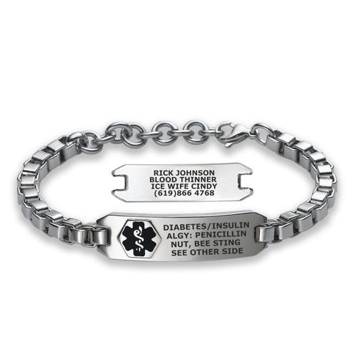 Divoti Custom Engraved Adjustable Medical Alert Bracelet - Urban Tag