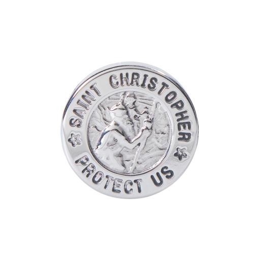 St. Christoper Medal Cuff Links for Men