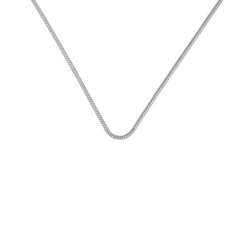 2.4mm Foxtail Necklace Chain for Medical Alert ID Neclaces, Size