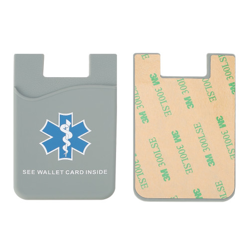 Silicone Emergency Medical Alert Phone Wallet for Medical ID Card(s)