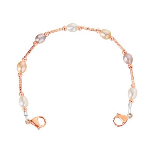 Divoti Lauren Pearl Beaded Interchangeable Medical Alert Replacement Bracelet for Women