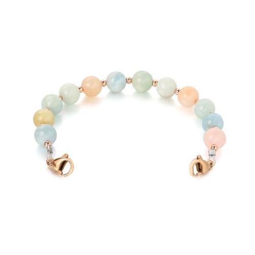Divoti Morganite Beaded Interchangeable Medical Alert Replacement Bracelet for Women