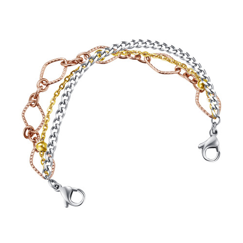 Divoti Trinity Stainless Steel Interchangeable Medical Alert Replacement Bracelet for Women