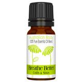 BREATHE BETTER 100% PURE ESSENTIAL OIL BLEND - EUCALYPTUS, LEMON, CLOVE, WINTERGREEN & FRANKINCENSE