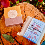 Our Sandalwood Oil, Powder & Hydrosol is sustainably harvested in Western Australia. The silky powder is immersed in hydrosol to provide a gentle exfoliation. We've included fresh Banana, Paw Paw & Olive leaf powder; premium oils of Macadamia, Watermelon Seed & Mango Butter; & 10 different essential oils including Eucalyptus, Lemon Myrtle, Mandarin and Lavender, which remind us of our unique landscape.
