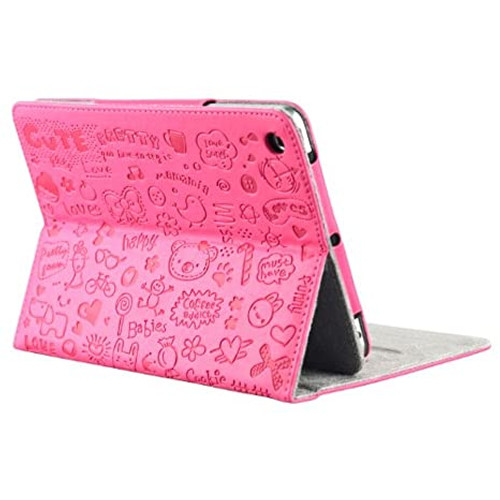 iPad mini Rose Red PU protective case