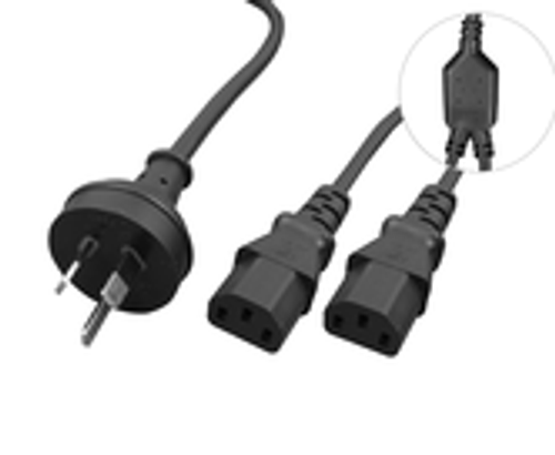 Hypertec Cable Power Y Split 2X IEC F BLACK 2M  (H3PIECBKYF-1)