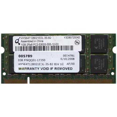 Infineon / Qimonda 1GB PC2-5300S-555 Memory Module