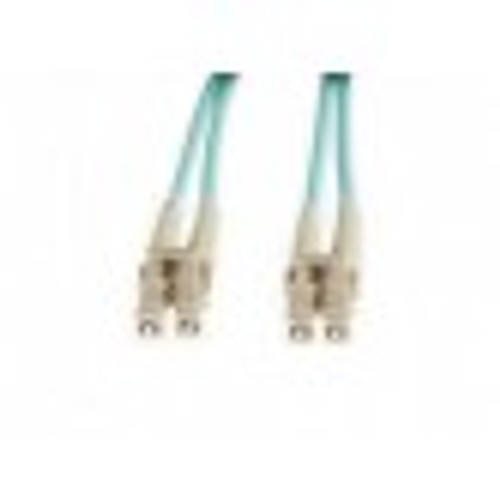 2m Aqua Fibre Optic Patchcord LC-LC OM3