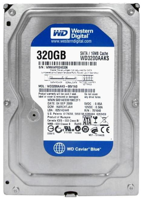 """320GB Western Digital Blue Caviar 7200RPM 16Mb SATA 3.5"""" Hard Drive"""