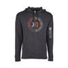 Unisex Heather Black Pullover Hood Sweatshirt