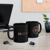 """Black 11 oz. """"Double Side Logo"""" Ceramic Mug"""