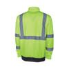 Safety Green/Black Hi-Vis 1/4-Zip Sweatshirt