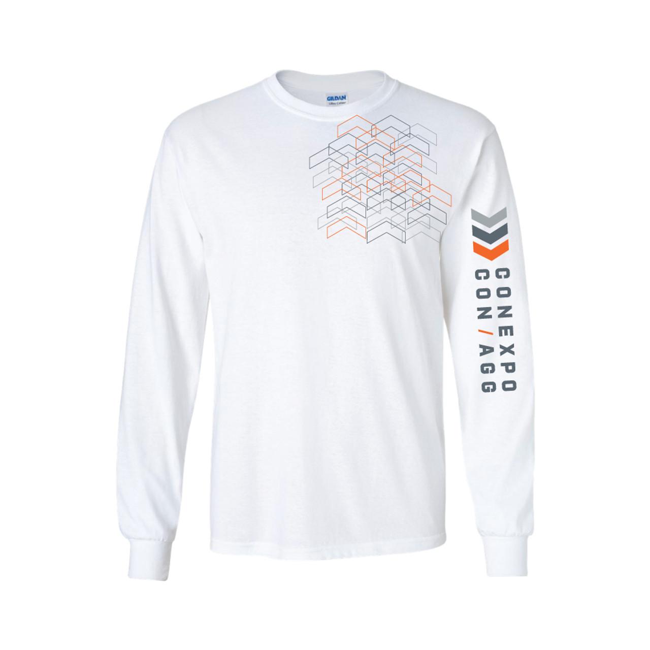 Unisex White Fine Jersey Long-Sleeve T-shirt