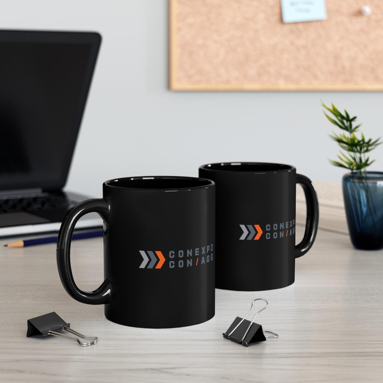"Black 11 oz. ""Double Side Color Logo"" Ceramic Mug"
