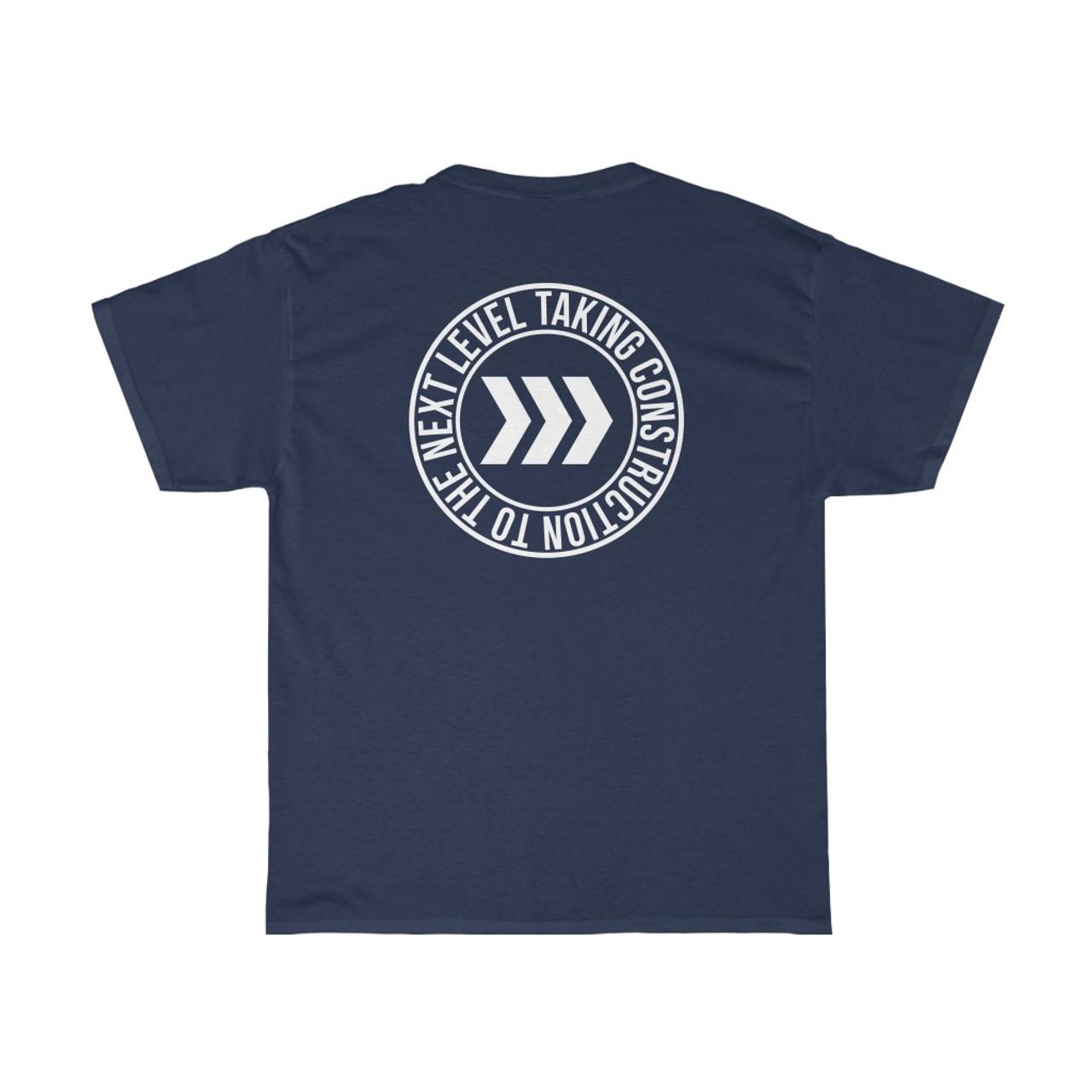 "Unisex Navy Blue ""Logo/Circle"" Cotton Tee"