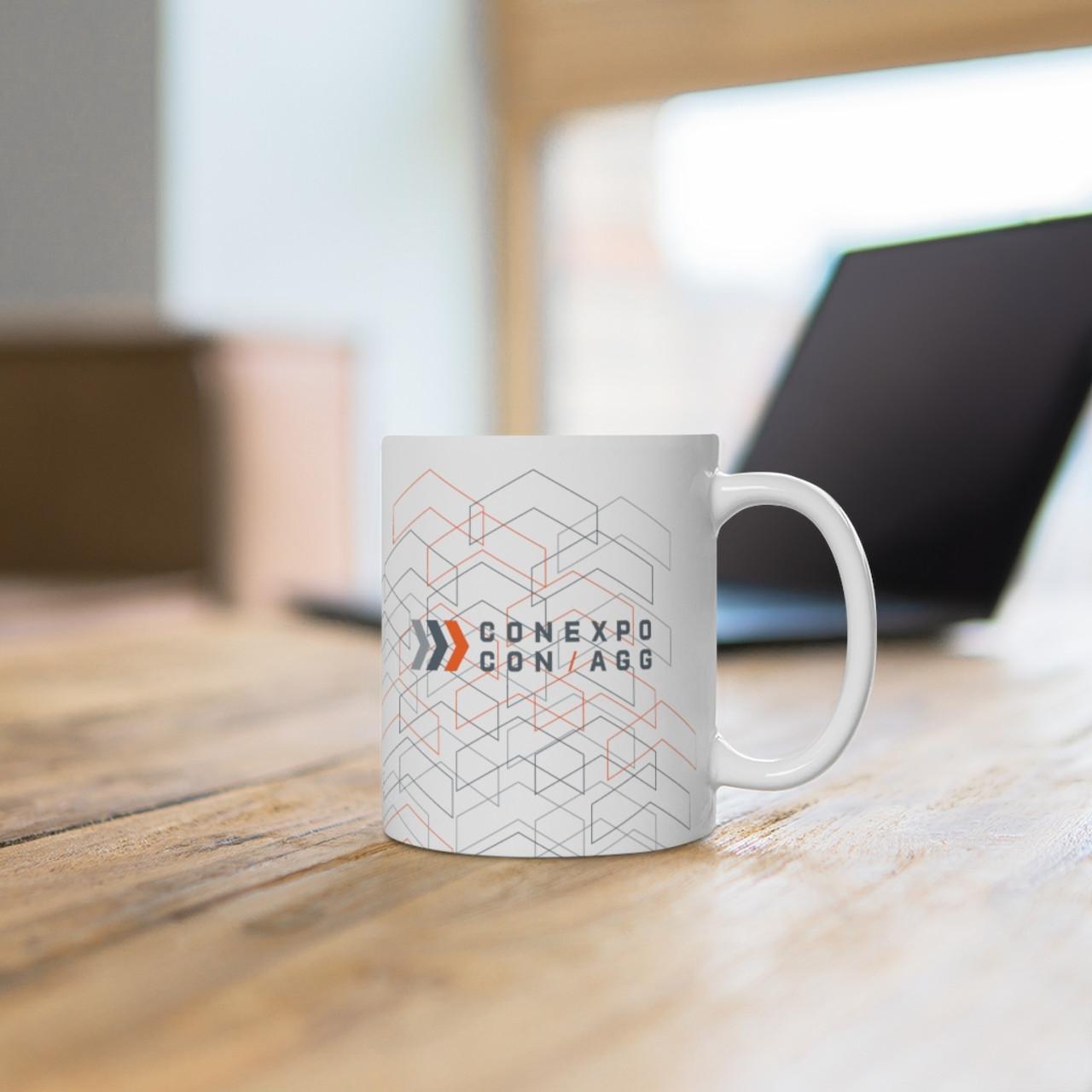 """White 11oz. """"CONEXPO-CON/AGG"""" Ceramic Mug"""