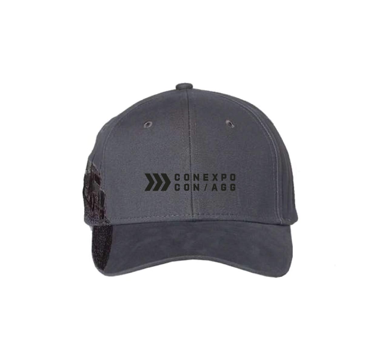 "Grey ""Trucking"" Brush Cotton Twill Hat"