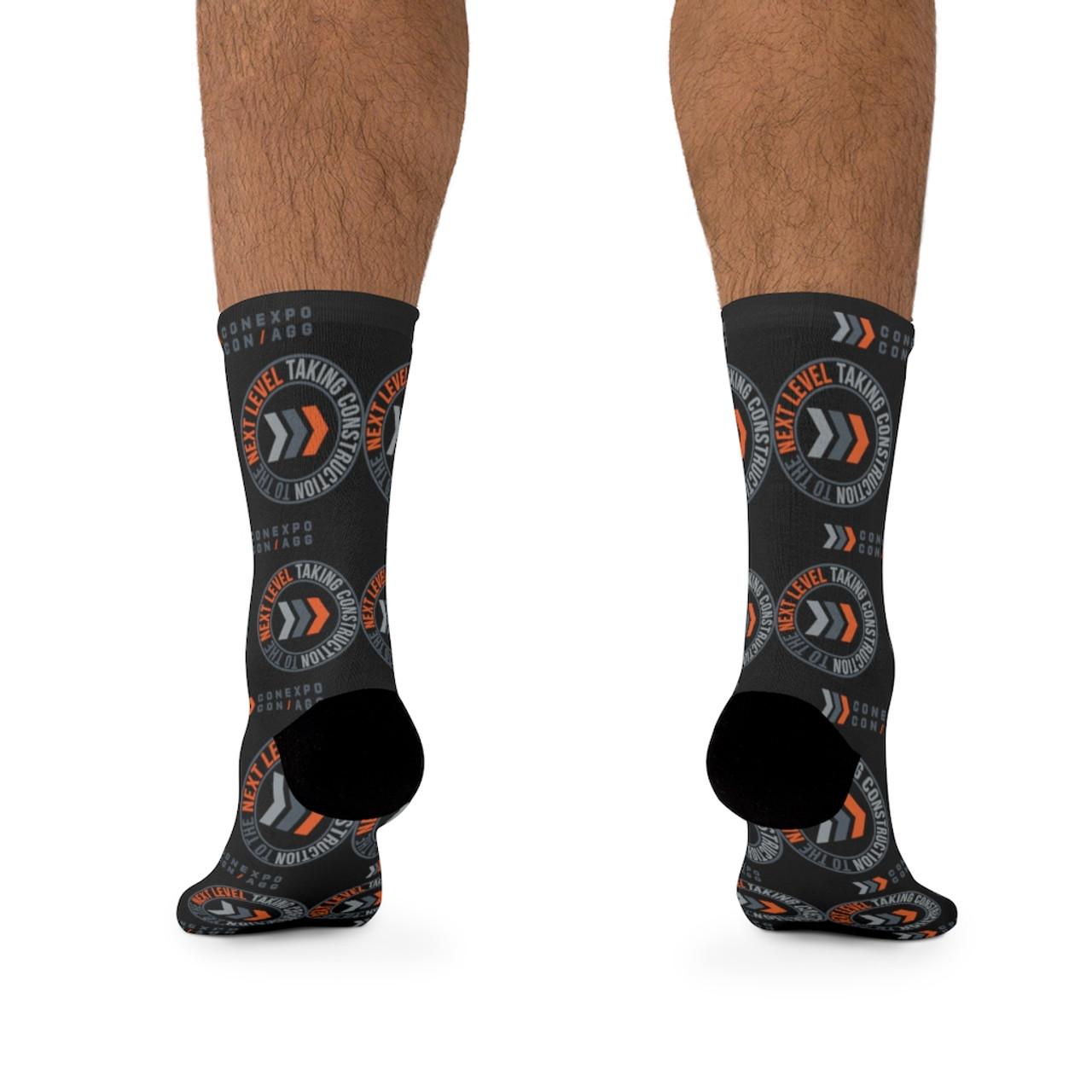 """""""Color Logo"""" Black Premium Knit Crew Socks"""