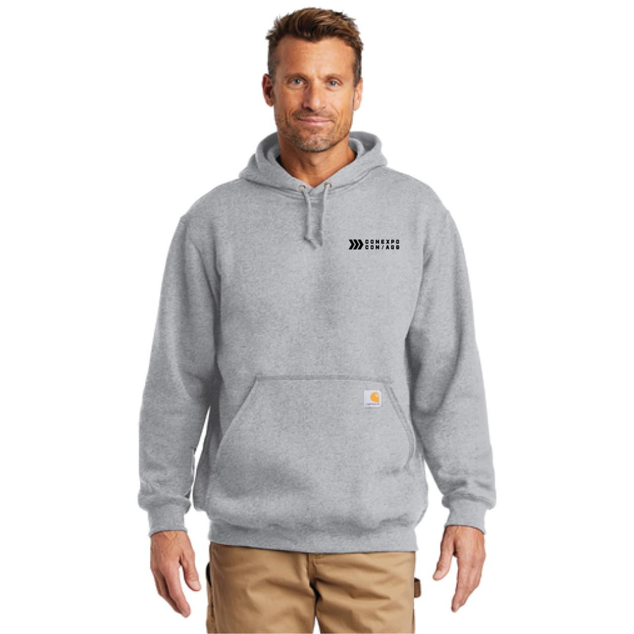 Carhartt Heather Gray Hooded Pullover Sweatshirt