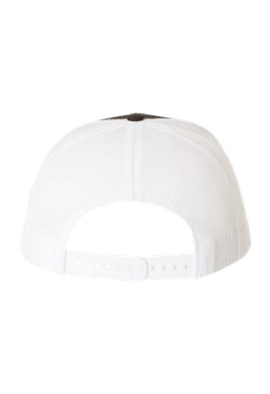 "Black/White ""Logo"" Adjustable Snapback Hat"