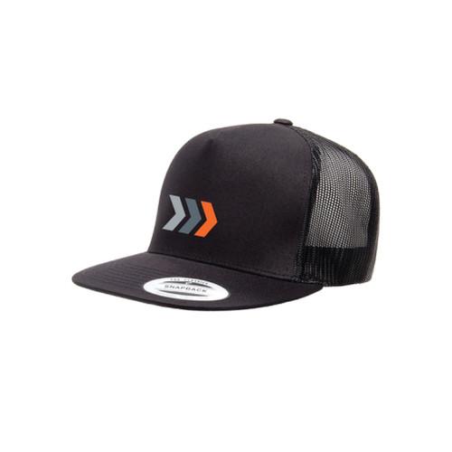 Charcoal Flat Panel 5-Panel Trucker Hat