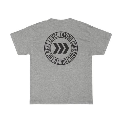 "Unisex Sport Grey ""Circle/Logo"" Cotton Tee"