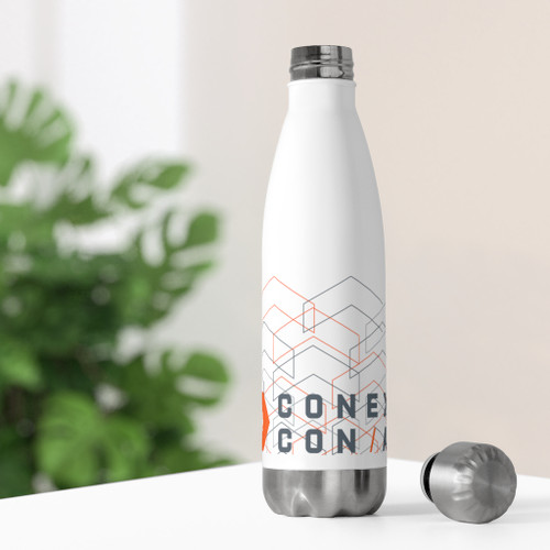 White 20oz Stainless Steel Insulated Bottle