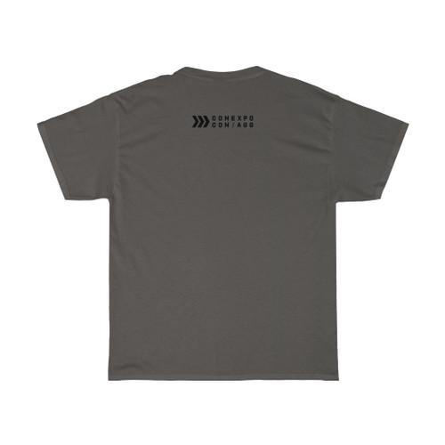 "Unisex Charcoal Gray ""Icon/Logo"" Cotton Tee"