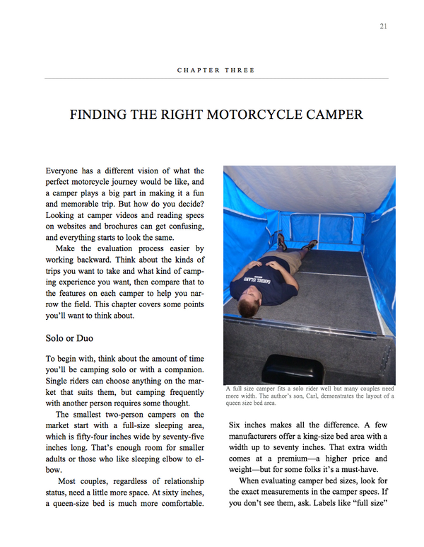 Motorcycle Campers A to Z