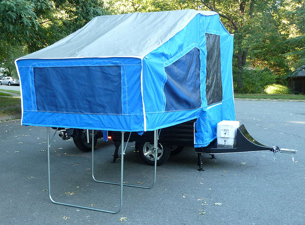The Time Out Deluxe is the largest tent camper with an elevated interior. No mud, no bugs, and plenty of room to stretch out!