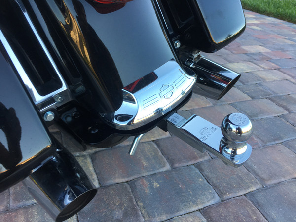 Shown with available chrome tow bar (+$45)