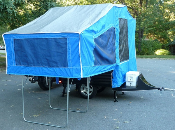 Time Out Deluxe Motorcycle Camper Setup