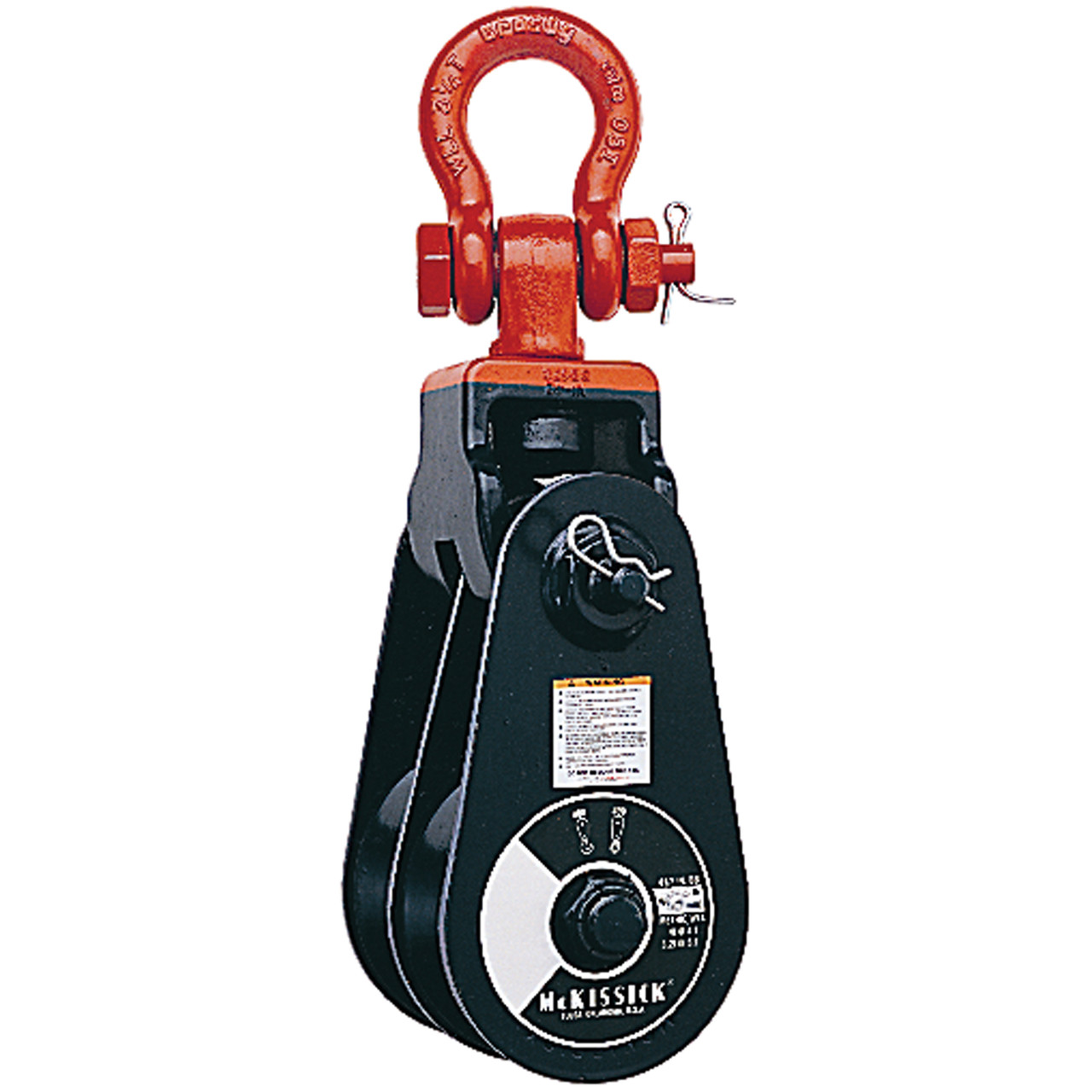 409 Double-Sheave Light Champion Snatch Block With Shackle