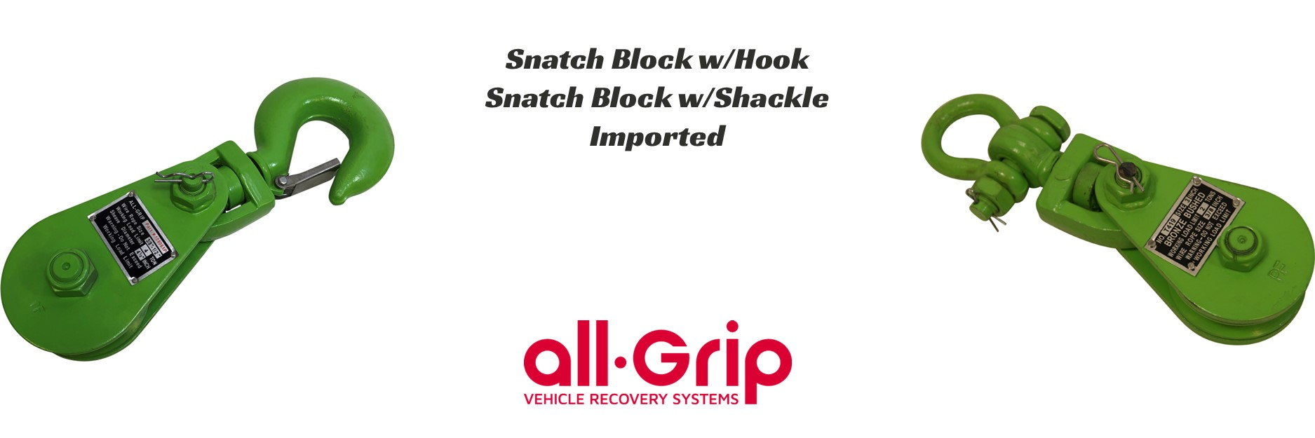 all-Grip Snatch Blocks
