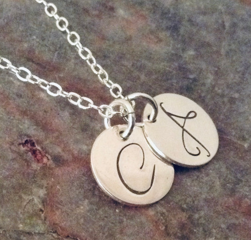 Sterling Silver Initial Necklace - Daniela Font