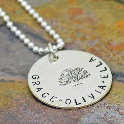 Sterling Silver Family Tree of Life Necklace