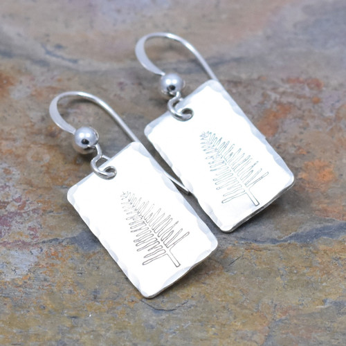 Winter Tree Earrings, Sterling Silver