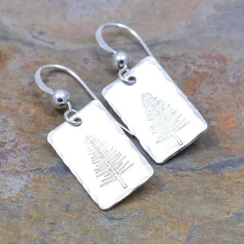 Winter Tree Earrings, Sterling Silver