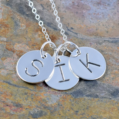 Sterling Silver Initial Necklace - Block |321SimpleCreations.com