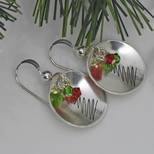 Sterling Silver Christmas Squiggle Trees