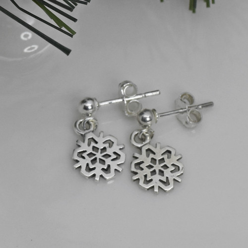 Sterling Silver Post Dangle Earrings