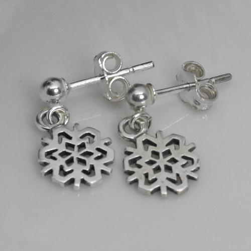 Sterling Silver Post Dangle Earrings
