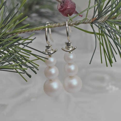 Swarovski Pearl Sterling Silver Dangle Earrings