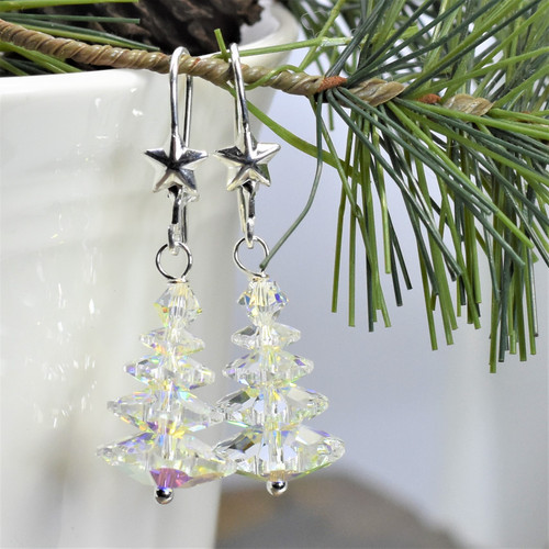 Swarovski  Clear Crystal AB Christmas Trees