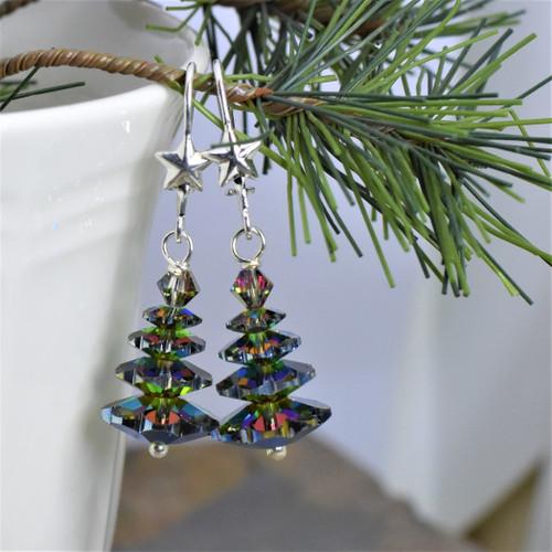 Swarovski Crystal Vitrail Medium Evergreen Trees