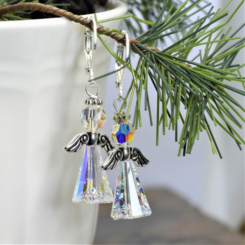 Swarovski Crystal Angel Earrings