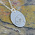 Poppy  Flower Necklace, Oval - Sterling Silver