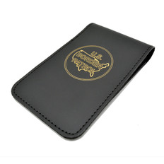 Leather Top Opening Notebook Holder - Gold Foil Imprint - U S Border Patrol Logo